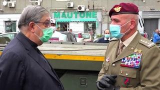 Napoli, donate 16 tonnellate di cibo ai poveri: le distribuiscono Esercito e Arcidiocesi