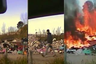 I roghi tossici non finiscono mai: sorpreso a bruciare rifiuti pericolosi, arrestato