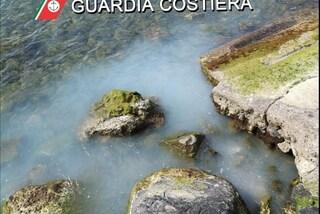 Scarica sostanze chimiche in mare nell'area protetta di Punta Campanella: denunciato
