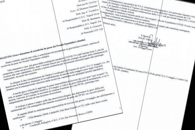 Il documento del 118 dell'11 maggio 2020