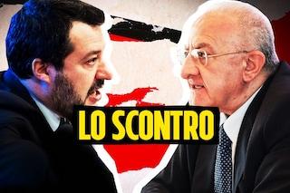 """Salvini contro De Luca: """"Il lanciafiamme? Non sa risolvere nemmeno il focolaio a Mondragone"""""""