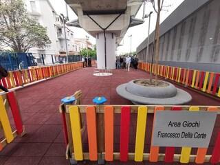 Alla stazione Eav di Scampia l'area giochi per Francesco Della Corte, vigilante ucciso in metro