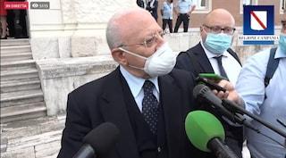 """Coronavirus, De Luca: """"Milanesi vanno di fretta ma dimenticano di dividere le corsie degli ospedali"""""""