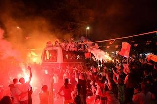 Benevento in Serie A, festeggiamenti fino all'alba in città e nella provincia sannita