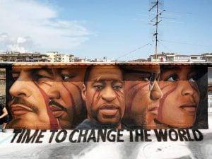 Napoli, un murale per George Floyd realizzato da Jorit
