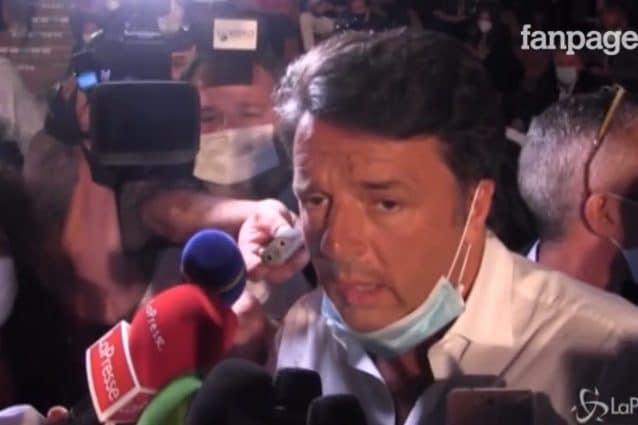 Matteo Renzi a Napoli per la presentazione del suo libro.
