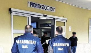 Ispezione dei Nas all'ospedale modulare Covid di Salerno