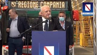 """Trasporti, 140 nuovi bus per la Regione Campania. De Luca: """"Obiettivo mille nuovi mezzi"""""""
