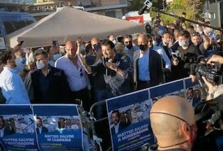 Salvini torna a Mondragone dopo le contestazioni, la città è blindata