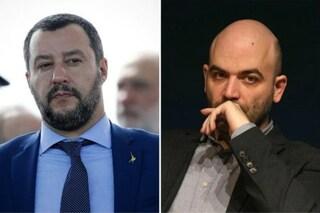 """Salvini: """"È colpa di Roberto Saviano se vi conoscono solo per la Terra dei Fuochi"""""""