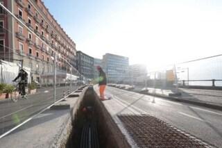 Napoli, in via Chiatamone arriva il cantiere dell'elettrodotto: lavori per un mese