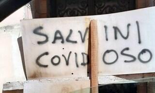 """Insulti e scritte contro Matteo Salvini nel Casertano: """"Covidoso"""""""