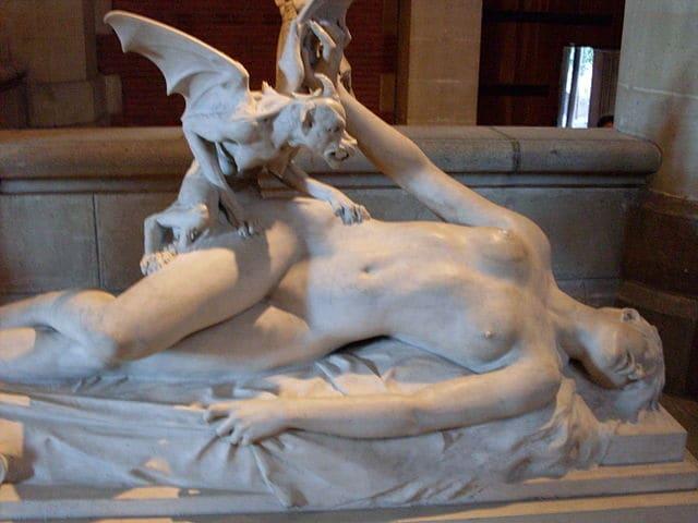 """""""L'incubo"""" di Eugène Thivier nel Museo degli Agostiniani a Tolosa (Foto di Traumrune)."""