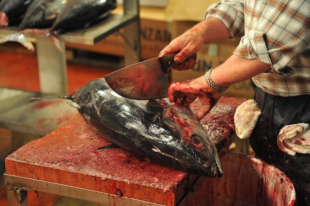 Rifornirsi da un pescivendolo di fiducia per accertarsi della provenienza del pesce acquistato