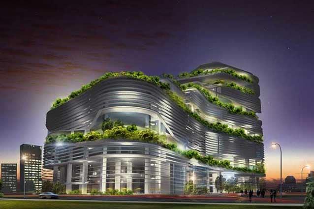 Grattacielo Solaris a Singapore.