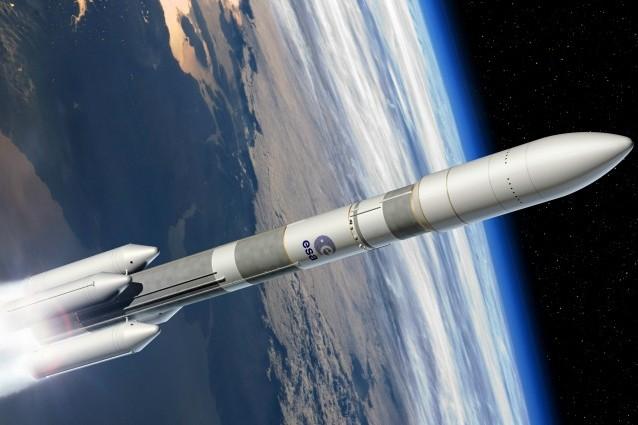 rappresentazione artistica di Ariane 6 (ESA–D. Ducros, 2014)