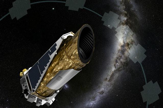 Il cacciatore di Pianeti Kepler in un'immagine artistica realizzata dalla NASA (Image Credit: NASA Ames/JPL–Caltech/T Pyle)