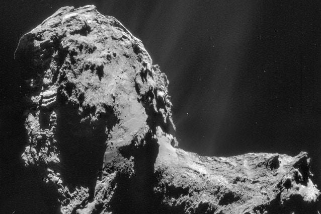 20 novembre, immagine della Cometa ripresa da Rosetta (ESA/Rosetta/NAVCAM – CC BY–SA IGO 3.0)