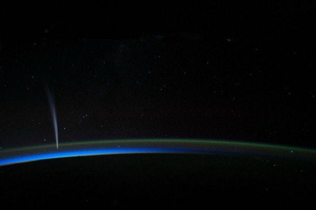 dicembre 2011, la Cometa C/2011 W3 (Lovejoy) fotografata dalla Stazione Spaziale Internazionale