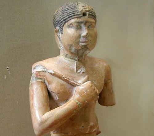 Busto di Neferefra custodito al museo egizio della capitale