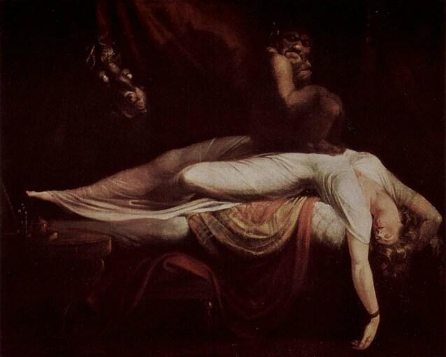 L'incubo secondo la celebre rappresentazione di Johann Heinrich Füssli del 1781