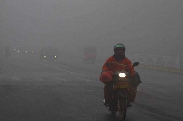 Rizhao, parte sudorientale della provincia dello Shandong, dove è allarme smog proprio in questi giorni