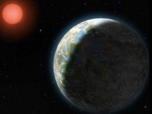 Rappresentazione grafica Gliese 581d.