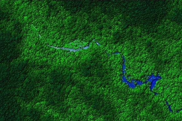 L'area di foresta pluviale honduregna mappata grazie alla tecnologia LiDAR che ha rivelato la presenza della città(photo credit: University of Houston)