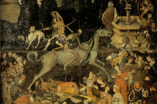 Il trionfo della morte (circa 1446) custodito presso la La Galleria Regionale della Sicilia a Palazzo Abatellis a Palermo
