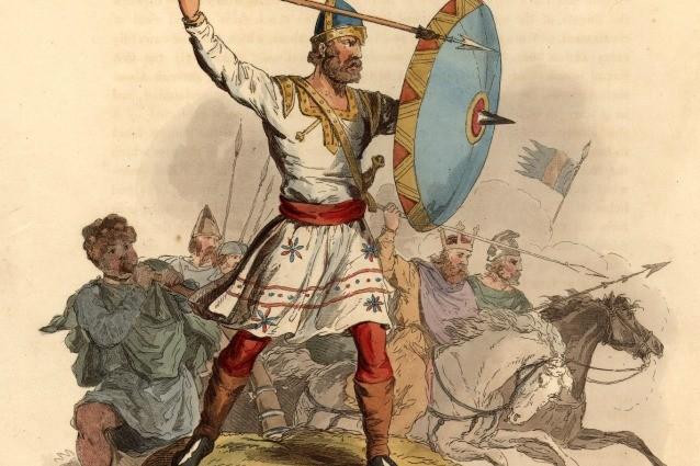 illustrazione di un guerriero Sassone