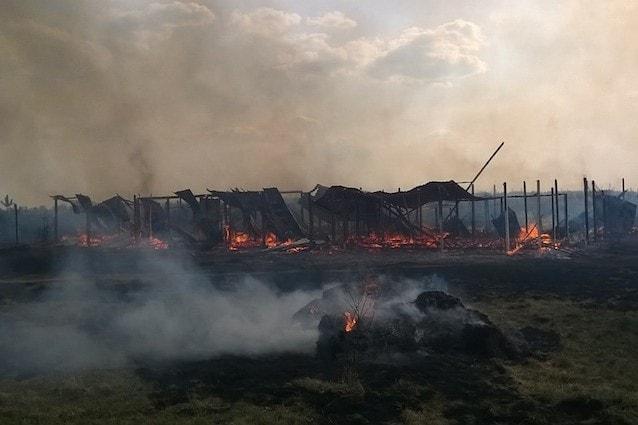 Il Rifugio Italia di Kiev distrutto da un incendio doloso
