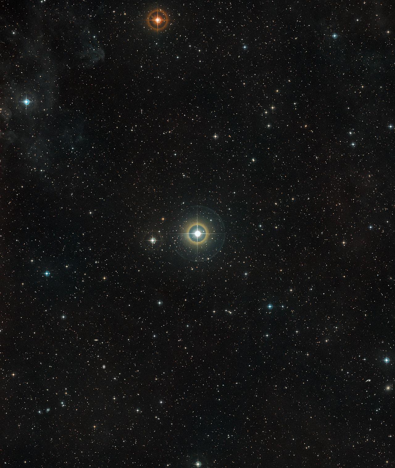 Il cielo attorno alla stella 51 Pegasi nella costellazione settentrionale di Pegaso (Crediti: ESO/Digitized Sky Survey 2)