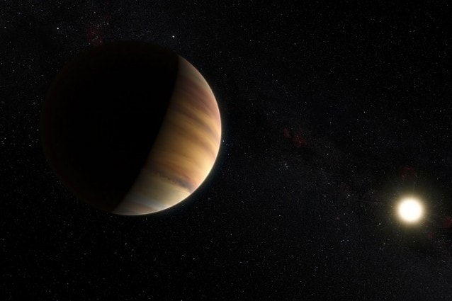 Rappresentazione artistica dell'esopianeta 51 Pegasi b (Crediti: ESO/M. Kornmesser/Nick Risinger)