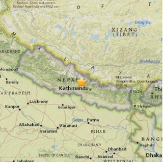 Qual è la causa del terremoto in Nepal