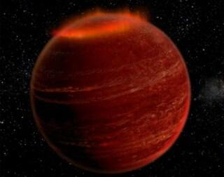 Un'aurora polare extrasolare