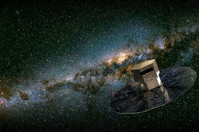 Rappresentazione artistica del satellite Gaia (foto ESA)