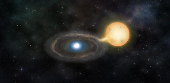 Rappresentazione artistica di Gaia14aae – Credit: Marisa Grove/Institute of Astronomy