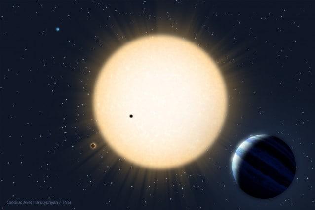 Rappresentazione artistica del sistema planetario di HD 219134 – Avet Harutyunyan (FGG–TNG) 2015