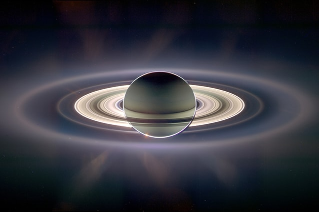 Saturno immortalato dalla sonda Cassini (Foto @Nasa).