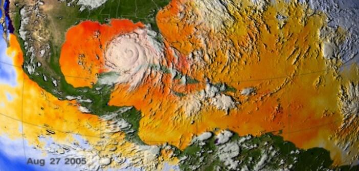 Le acque calde dell'oceano nell'agosto del 2005 (Scientific Visualization Studio, NASA's Goddard Space Flight Center)