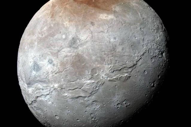 """Caronte """"da vicino"""" lo scorso 14 luglio (Credits: NASA/JHUAPL/SwRI)"""