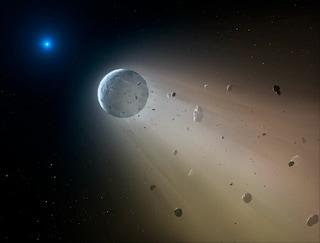 Come una stella sta distruggendo un pianeta