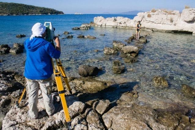 Gli archeologi al lavoro (Fotografia dell'Istituto Archeologico Tedesco di Istanbul)