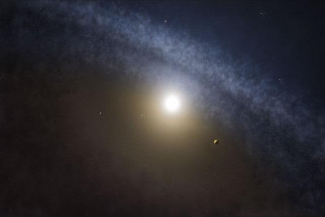Rappresentazione artistica di un disco di transizione attorno ad una giovane stella Crediti: ALMA (ESO/NAOJ/NRAO)/M. Kornmesser
