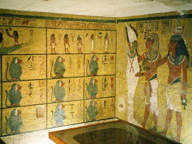 La stanza del sarcofago nella tomba di Tutankhamon(tramite Wikimedia Commons)