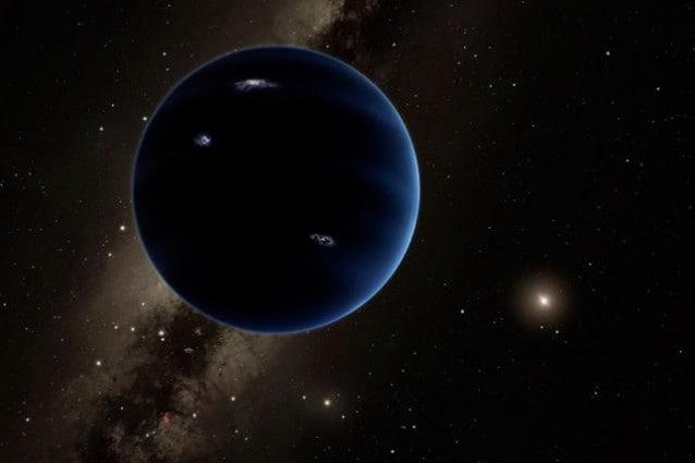Rappresentazione artistica del possibile aspetto di Planet Nine. Credit: Caltech/R. Hurt (IPAC)