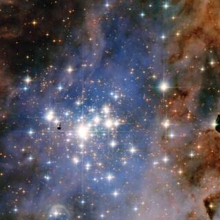 Una pioggia di diamanti fotografata da Hubble