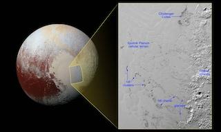 Plutone e il mistero delle colline fluttuanti