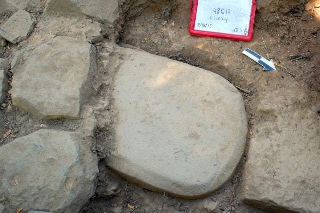 La stele scoperta (Mugello Valley Project)