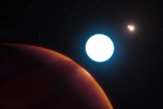 Rappresentazione artistica del sistema HD 131399 (ESO/L. Calçada)
